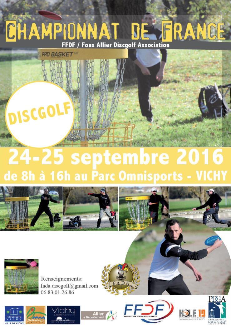 Championnats de France Disc Golf FFDF 2016 © 2016 Fous Allier DiscGolf Association