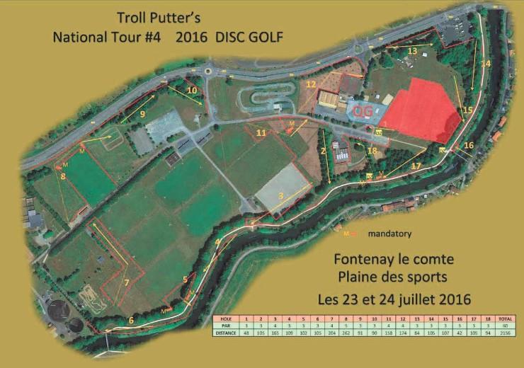 Le parcours de Fontenay-le-Comte permettra aux habitués de découvrir la Plaine des sports sous un autre angle – © 2016 Troll Putter's