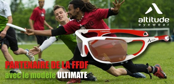 Le modèle Ultimate concrétise le partenariat entre la FFDF et Altitude Eyewear - © FFDF 2016