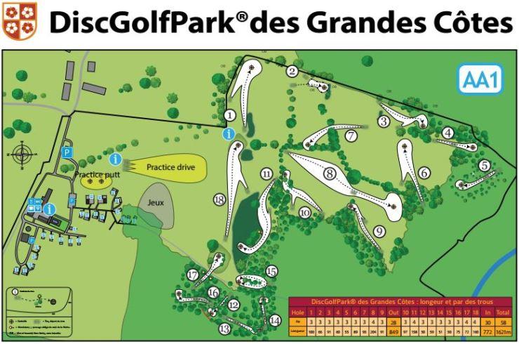 Target, un espace aménagé spécialement pour le Disc Golf avec un parcours soigné © 2016 – Domaine des Grandes Côtes